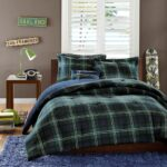 Anton Plaid Bed Set for Men