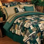 Buckmark Camo Green Bed Set for Men