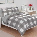 Gray buffalo plaid comforter set 444 – bedding for men