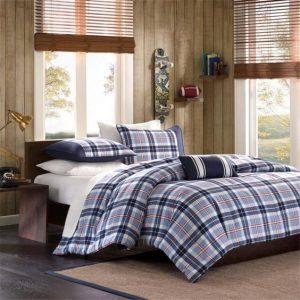 joe plaid bed set for men