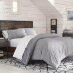 Plain Comforter Bed Set – bedding for men – grey