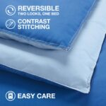 Utica Reversible Colored Comforter for Men – bedding for men – blue reversed