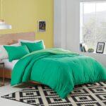 Utica Reversible Colored Comforter for Men – bedding for men – green