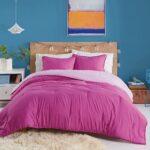 Utica Reversible Colored Comforter for Men – bedding for men – purple