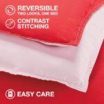 Utica Reversible Colored Comforter for Men – bedding for men – red reversed